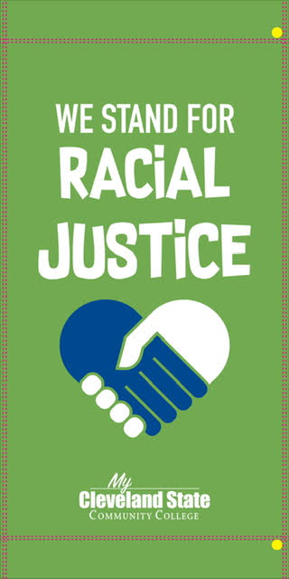 Banner that says Racial Justice