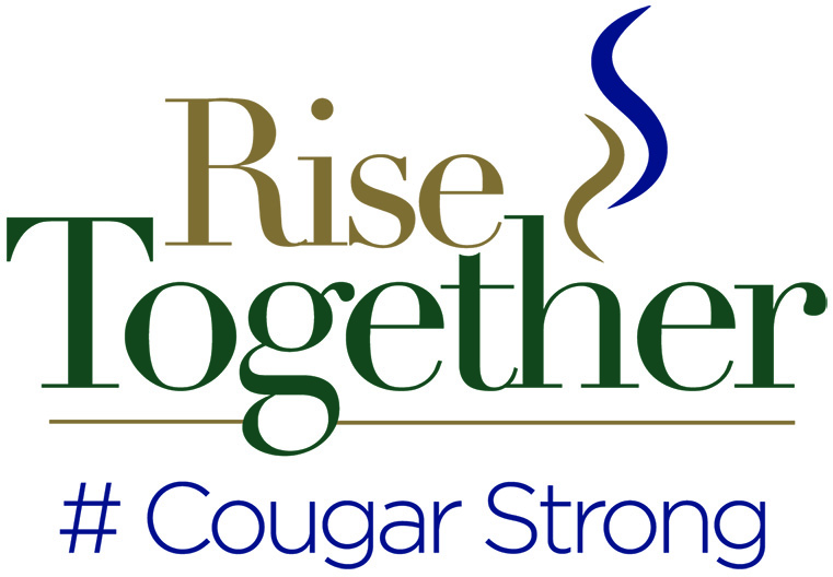 Rise Together logo #Cougarstrong