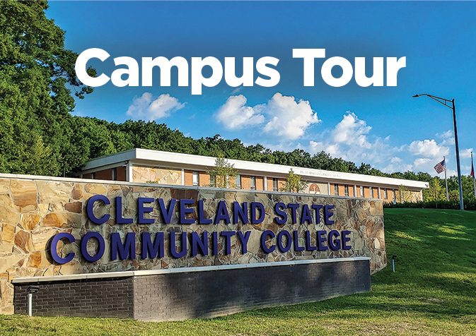 The main Cleveland State Community College sign.